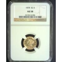 1836 CLASSIC HEAD $2 50 GOLD $2.50 AU50 Details NGC
