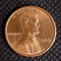 1969 LINCOLN MEMORIAL CENT 1c MS65 RD