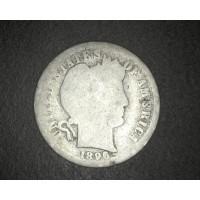 1896 BARBER DIME 10c AG3