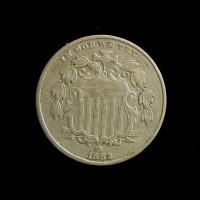1882 Filled2 SHIELD NICKEL 5c (Nickel) EF48