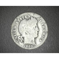 1902 BARBER DIME 10c G4