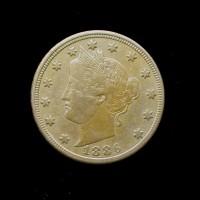 1886 LIBERTY NICKEL 5c (Nickel) EF40