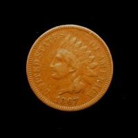 1867/67 INDIAN CENT 1c F18