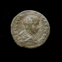 ROMAN EMPIRE, 202 Denarius EF40 Sear7200