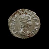 ROMAN EMPIRE, 218-20 Rome Denarius AU50 Sear7749