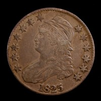 1825 CAPPED BUST HALF DOLLAR 50c EF40