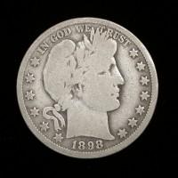 1898-O BARBER HALF DOLLAR 50c VG8