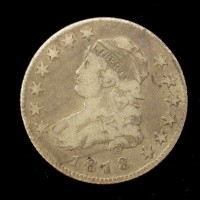 1818 CAPPED BUST QUARTER DOLLAR 25c F18