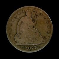 1877-S LIBERTY SEATED HALF DOLLAR 50c VG8