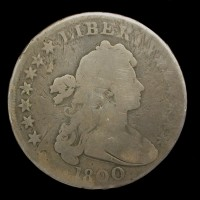 1800 Wide Date DRAPED BUST/HERALDIC DOLLAR $1 G/AG
