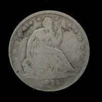 1859-O LIBERTY SEATED HALF DOLLAR 50c VG8