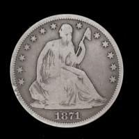 1871-S LIBERTY SEATED HALF DOLLAR 50c G5