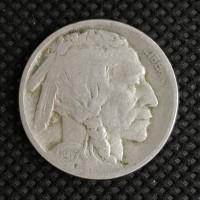 1917 BUFFALO NICKEL 5c (Nickel) F18