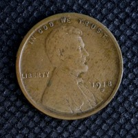 1918-D LINCOLN WHEAT CENT 1c F12