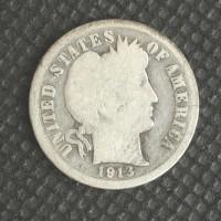 1913 BARBER DIME 10c G4