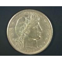 1893-S BARBER HALF DOLLAR 50c MS62