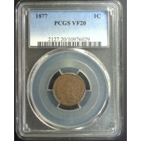 1877 INDIAN CENT 1c VF20 PCGS