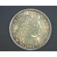 1901 BARBER HALF DOLLAR 50c MS63