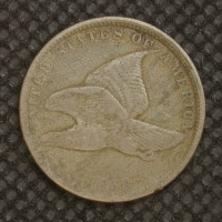 1858 SL FLYING EAGLE CENT 1c F18