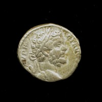 ROMAN EMPIRE, 195 Rome Denarius VF20 Sear6322 Var