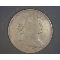 1797 Rev'97 Stems DRAPED BUST LARGE CENT 1c VF30