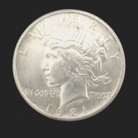 1921 PEACE DOLLAR $1 MS62