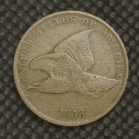 1858 SL FLYING EAGLE CENT 1c F15
