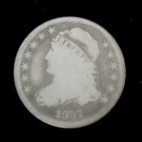 1837 Thin8 CAPPED BUST DIME 10c VG8