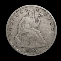 1875-S LIBERTY SEATED HALF DOLLAR 50c VF/EF