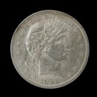 1893 BARBER HALF DOLLAR 50c MS62