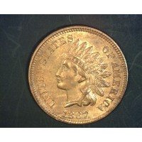 1867 INDIAN CENT 1c MS64 RD