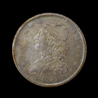 1835 CAPPED BUST QUARTER DOLLAR 25c MS63+