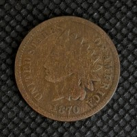 1870 Bold N INDIAN CENT 1c G4