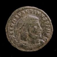 ROMAN EMPIRE, 312-13 Thessalonica Follis VF20 Sear15972