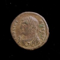 ROMAN EMPIRE, 317-18 Cyzicus Follis VF20 Sear15237