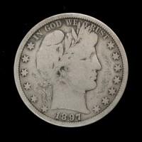 1897-O BARBER HALF DOLLAR 50c VG10