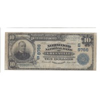 1902 Blue Seal $10 NATIONAL BANK NOTE $10 VG8