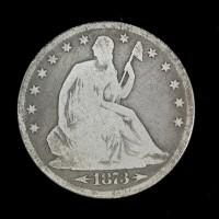 1873 Arr LIBERTY SEATED HALF DOLLAR 50c G4