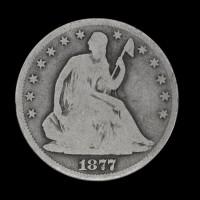 1877 LIBERTY SEATED HALF DOLLAR 50c G4