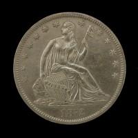 1872-CC LIBERTY SEATED HALF DOLLAR 50c MS61