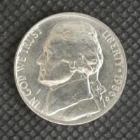 1986-D JEFFERSON NICKEL 5c (Nickel) MS64