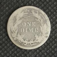 1907 BARBER DIME 10c G4