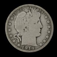 1914 BARBER HALF DOLLAR 50c G6