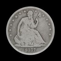 1877-S Ty'1 Rev LIBERTY SEATED HALF DOLLAR 50c G6