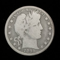 1895-O BARBER HALF DOLLAR 50c G6
