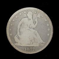1877-S LIBERTY SEATED HALF DOLLAR 50c G4