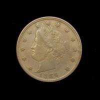 1886 LIBERTY NICKEL 5c (Nickel) VF35