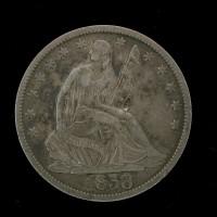1858-O LIBERTY SEATED HALF DOLLAR 50c EF40