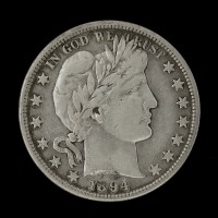 1894-S BARBER HALF DOLLAR 50c VF30