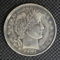 1900-O BARBER HALF DOLLAR 50c EF40